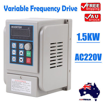 1.5KW 3 Phase VFD Variable Frequency Drive Inverter Motor Speed Controller 220V
