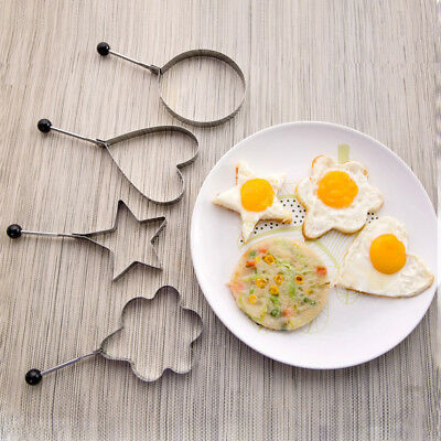 4Style Pancake Mould Mold Ring Cooking Fried Egg Shaper Kitchen Gadget DIY Hot!!