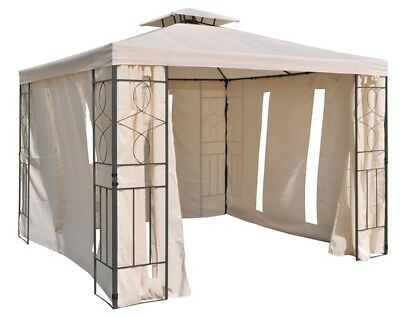 Pavilion 4 Side Panel pavilion garden tent sidewalls Beige with Window ca3x3m