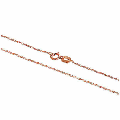 Real 375 9ct Rose Gold Fine 18 Inch Prince of Wales Chain Chains Necklaces Plain