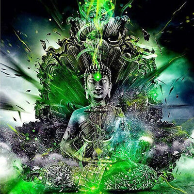 Buddhism Buddha Lotus flower Full drill 5D Diamond Painting Fashion Decor N6047