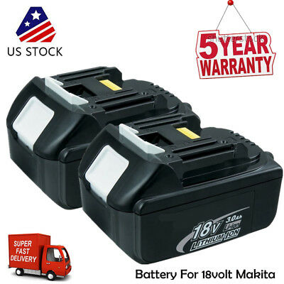 2X 18V 3.0Ah BL1830 BL1815 LXT400 LITHIUM ION BATTERY FOR MAKITA BL1845 UPGRADED