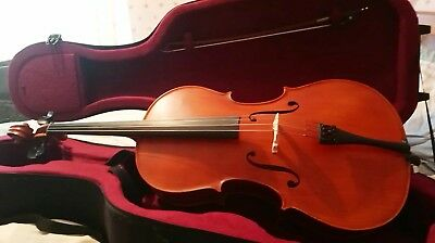 Used Gliga Gems 1 1/2 size cello outfit in excellent condition with upgrades