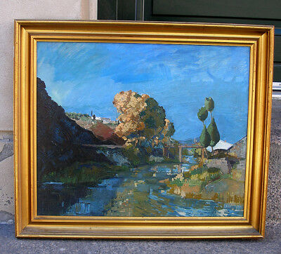 Bjorn Tragardh (1908) Landscape from Arles. Southern France. Must see!