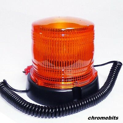 12V 24 LED Magnetic Flashing Amber Beacon Lorry Car Van Tractor Forklift Digger
