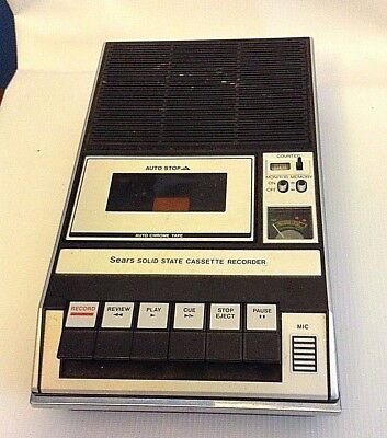 Vintage Sears Solid State Cassette Tape Recorder Model 799.21683700 FREE SHIPPIN