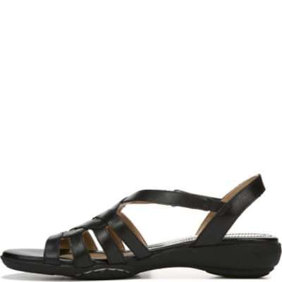 38da94dc2874 NATURALIZER WOMENS CHARM Leather Open Toe Casual Slingback Sandals ...