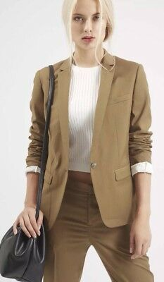 Topshop Tailored Clean Lines Fitted Blazer And Trousers Suit Two Pieces  Rrp£100