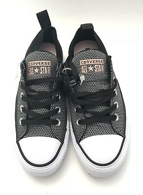 Converse All Star Low Top Sneakers Women Size 6 Black Chekered Peach Shoes