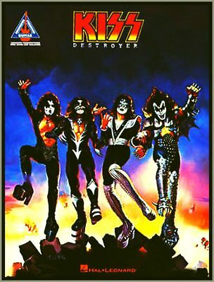 KISS Destroyer Songbook Guitar Tablature Recorded Versions Notation Chords Lyric