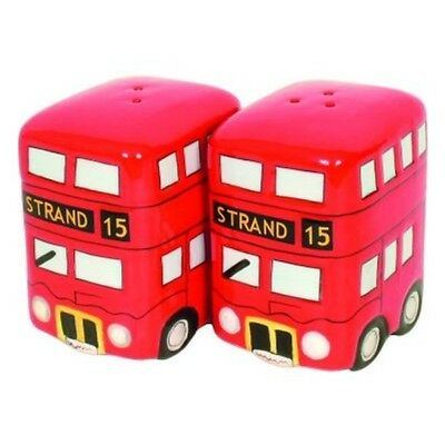 French Country Chic Collectable Novelty Salt and Pepper Set LONDON BUS New