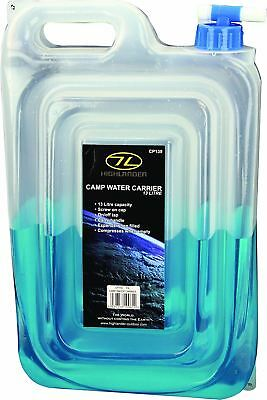 Highlander Flat Pack Water Carrier With Tap 13L Camping Festival