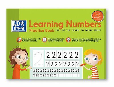 "Oxford A4 210 x 297 mm ""Ages 4-7 Years"" Learning Numbers Children Practice Book"