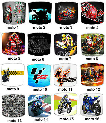 MOTOGP Lampshades, Ideal To Match Super Bikes MOTOGP Wall Decals & Stickers.
