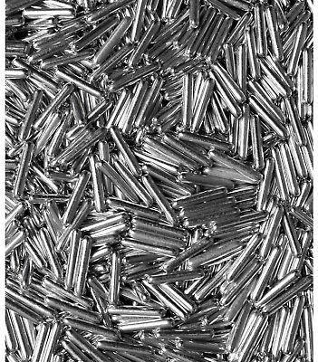 Silver Metallic Macaroni Rods Edible Cake Cupcake Decorations Sprinkles Toppers