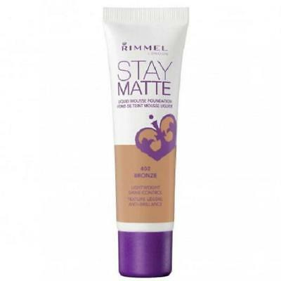 RIMMEL Stay Matte Mousse Foundation 30ml 402 Bronze - NEW