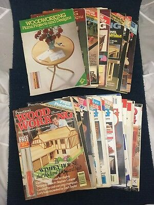 Practical Woodworking Magazines Collection Vintage Variety Carpentry Traditional