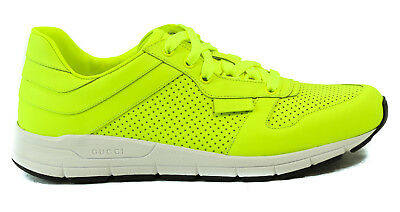 d8af9e557 NIB GUCCI Men's 369088 Lace Up Running Sneakers, Yellow Sz 11.5G/12.5 US