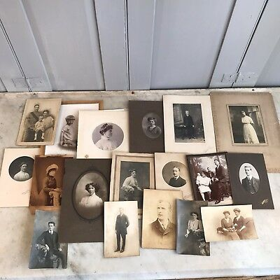 Small collection of antique Victorian portrait photographs