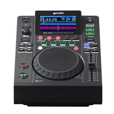 Gemini MDJ-500 - DJ Player Deck - USB Input Media Controller