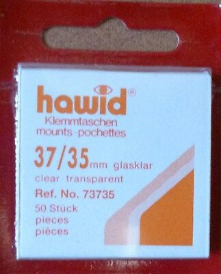 HAWID STAMP MOUNTS CLEAR Pack of 50 Individual 37mm x 35mm - Ref. No. 73735