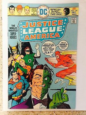 Justice League of America #125 F/VG+ Two-Face App 1975 Bronze Age Key Issue
