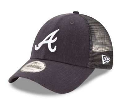 New Era MLB Atlanta Braves Trucker 9Forty Adjustable Baseball Hat 940 11591214