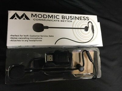 Antlion Audio ModMic Business Attachable Boom Microphone w/ Mute Switch for VOIP