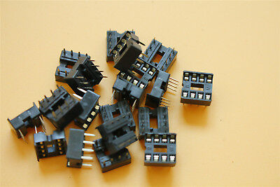 20Pcs 8Pin Dip-20 Ic Socket Double In-Line Integrated Circuit Solder Type