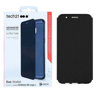 sale retailer 898e1 8c848 TECH21 EVO WALLET New Authentic OEM Case for Samsung Galaxy S6 Edge Plus -  Black