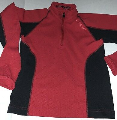 Boys Spyder Long Sleeve Sweater Red Size Small