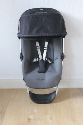 Quinny Buzz 3/4 Seat Frame Unit With Insert and Hood in Black - Grey