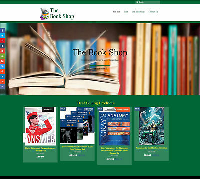 Fully Stocked / Automated BOOK website: FREE Domain/Hosting. Up to £86 per sale!