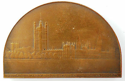 Great. Britain THE HOUSES OF PARLIAMENT LONDON By Bradbury bronze 75mm x 45mm