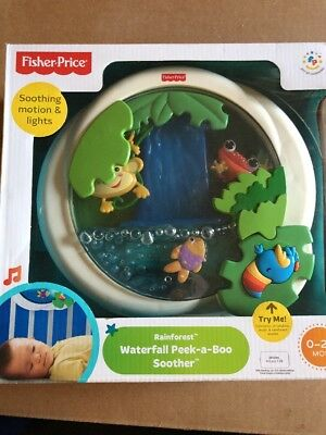 Fisher Price Rainforest Waterfall Peek a Boo Soother Crib Toy Baby NEW 2006