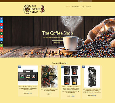 Fully automated COFFEE Business - Upto £441 per sale FREE DOMAIN / HOSTING / SEO