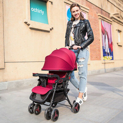 Foldable Baby Stroller Pram Compact Lightweight Buggy Carry-on Travel Pushchair