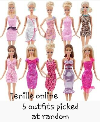 New Barbie doll clothes outfit princess wedding gown dress pink lace and shoes
