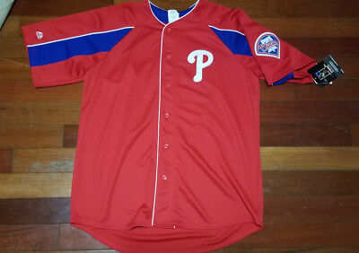 a60df444d Vtg mens Majestic Philadelphia Phillies Cliff Lee jersey MLB baseball L  Large