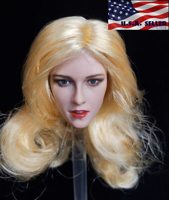 1//6 scale European American Female Head sculpt D005A for 12/'/' Phicen body ❶USA❶