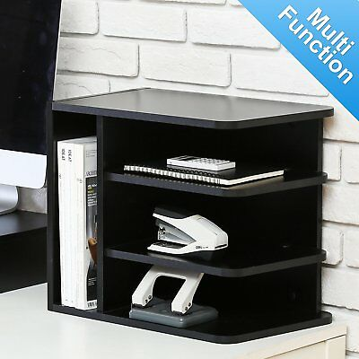Desktop Storgae Organizer File Document Cabinet Stand 2 Sides Adjustable