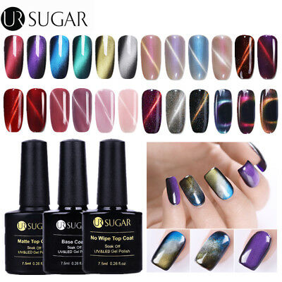 24 Colors 3D Cat Eye UV Gel Nail Polish Pearl Glitter Chameleon Soak Off Varnish