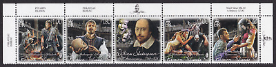 PITCAIRN ISLANDS - 2016 - 250th Death Anniv W Shakespeare. Complete set, 4v. MNH