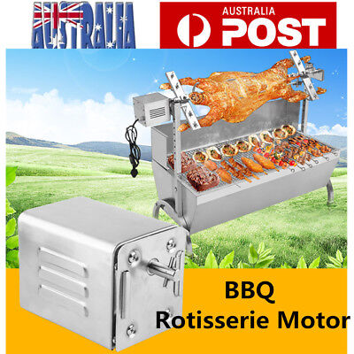 Stainless Steel Rotisserie BBQ Barbecue Spit 240V Motor Grill 40kgs Capacity OZ