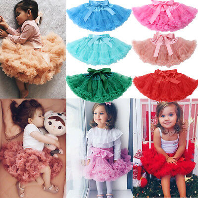 Princess Toddler Girl Baby Tutu Fluffy Pettiskirt Skirt Party Dancewear Dress CA