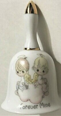 1999 Enesco Precious Moments Porcelain Bell with Chime - Forever Mine No Box