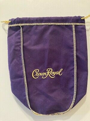 """Crown Royal Purple Bag 9"""" With Draw String -  New"""
