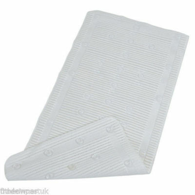 StayPut White Anti-Microbial Anti-Slip Anti Bacterial Bath Mat 90cmx43cm