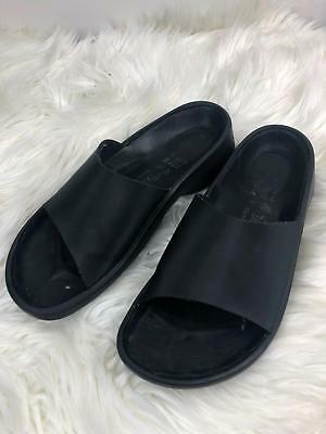 Birkenstock Tatami Vegan Slider Black Casual Cruelty Free Fashion Size 38 GREAT!
