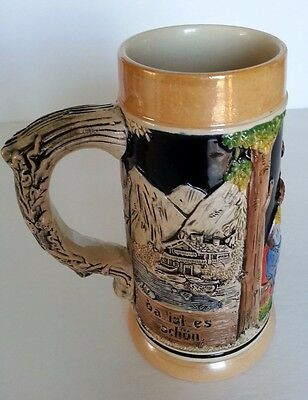 Authentic Made In Germany Vintage Detailed Hand-painted Beer Stein - 1950/60's
